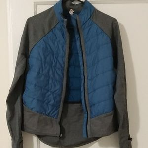 Lucy blue and grey jacket
